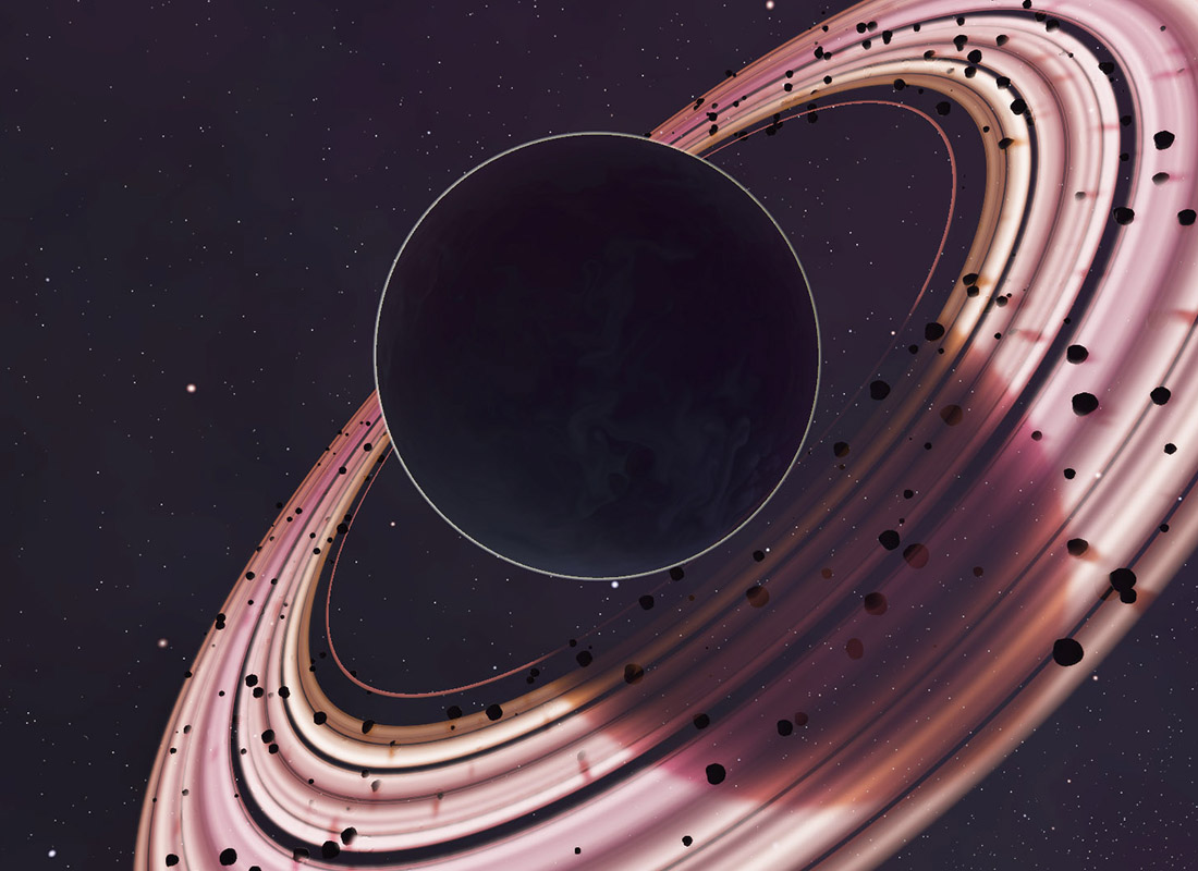 Gas planet with rings